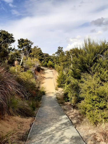 Walking to a higher view known as the queens footpath