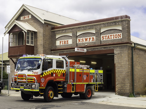 NSW Fire & Rescue Station - Lithgow NSW - built 1915 - see below