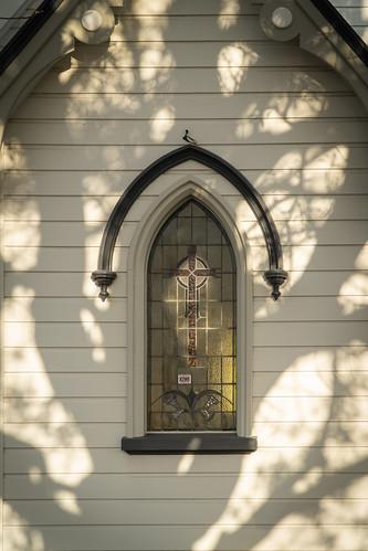 Autumn sun on Saint Jude's Church