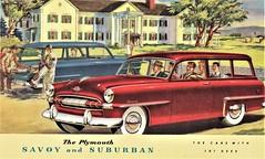 1953 Plymouth Savoy and Suburban