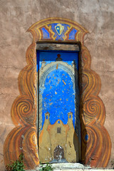 Decorative doorway in Santa fe