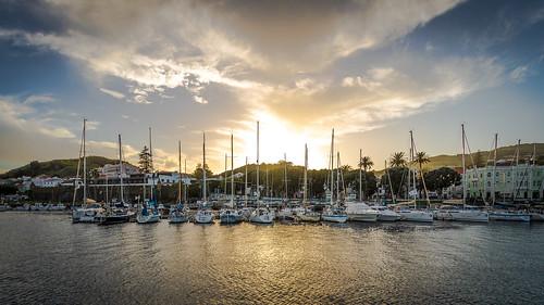 Sunset in Port of Horta