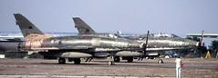 56-3948 & 55-2888 McDonell-Douglas F-100D/E Super Sabres ex-Turkish Air Force  STN 050889