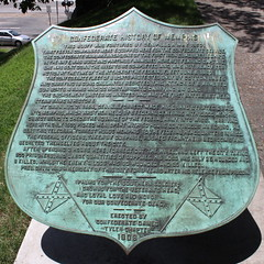 Confederate History of Memphis marker (now removed)
