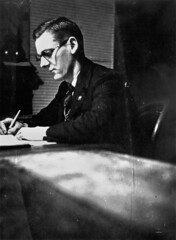 Llewellyn Walter Jenkin pictured at his writing desk
