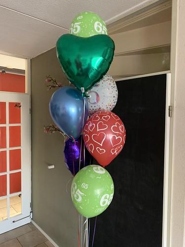 Ballonboeket 65 Jaar Verjaardag