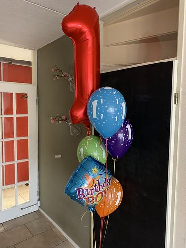 Ballonboeket Verjaardag Jongen 1 Jaar