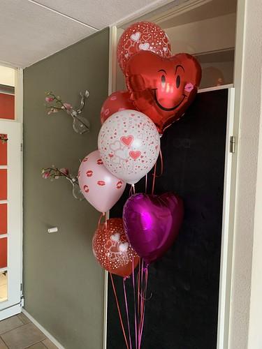 Ballonboeket Liefde Valentijn Kussen
