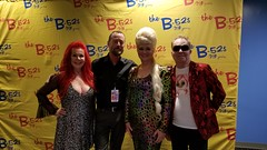 Backstage with the B-52s
