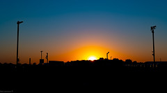 Sunset looking West from Orwell Truckstop tonight 20/04/2020