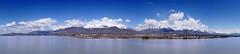 Wasatch mountain range panorama from Utah Lake