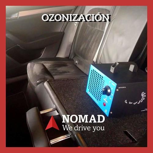 OZONO para desinfectar el vehículo.
