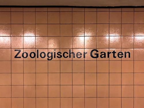 U-Bahn station, Zoologischer Garten, Berlin