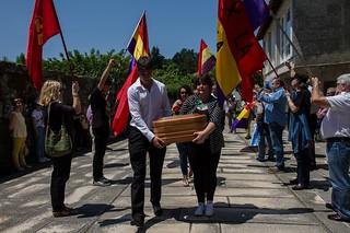 2015 Febrero. Entierro del guerrillero antifranquista Perfecto de Dios. Sandiás-Xinzo de Limia (Ourense)