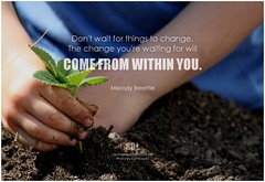 Melody Beattie Don't wait for things to change. The change you're waiting for will come from within you