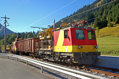 Lermoos - Kleinbahnhof-Impressionen (2) - ÖBB-Bauzug im Bahnhof Lermoos