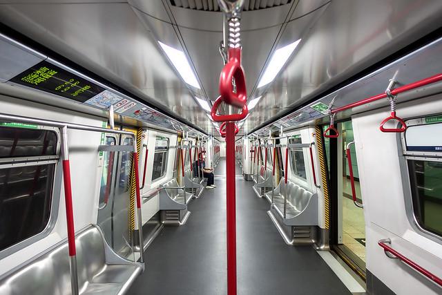 Extreme Social Distancing, Empty Hong Kong MTR