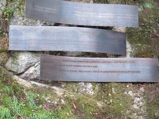 2017 Noviembre. Inauguración monumento de homenaje a las víctimas de O Acevo. A Coruña