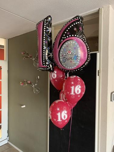 Ballonboeket Sweet 16 Verjaardag