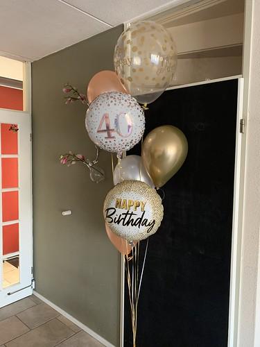 Ballonboeket Verjaardag 40 Jaar