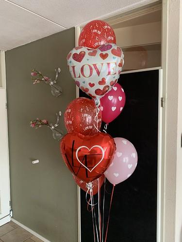 Ballonboeket Love Liefde Valentijn Valentijnsdag