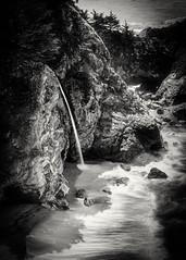 McWay Falls, Big Sur, CA #7 B&W