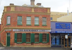 Geelong. 310 Moorabool St. The old Haymarket Hotel established in 1855 . Now the Haymarket Boutique Hotel..