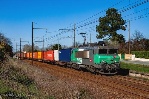 05 mars 2014  BB 22275  Train 50837 Bordeaux-Hourcade -> Fos  Cadaujac (33)