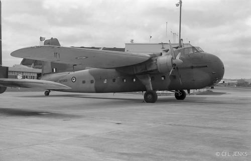 18 December 1975, RNZAF Bristol Freighter NZ5903 at Whenuapai