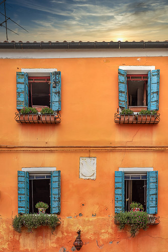 Colorful house façade on the island of Burano