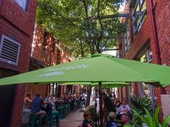 Umbrellas in Laneway Cafe