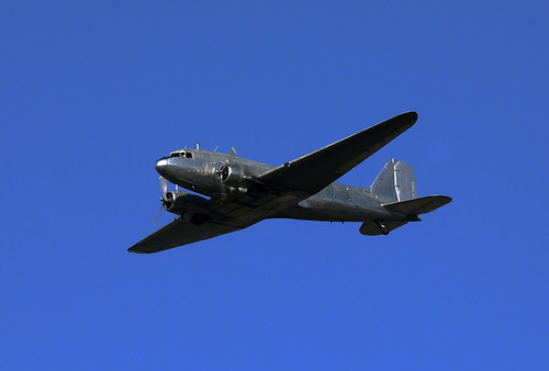 VH-MMA Douglas DC-3CS1C3G (c/n 9593) Built as a C-47A-30-DL in 1943 flying over Palmerston for ANZAC Datwin 2020, Darwin, Northern Territory, Australia.