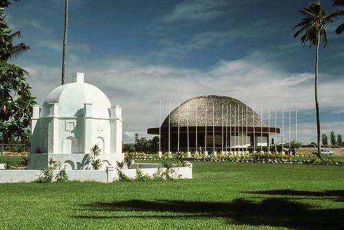 Samoa 1980 - old Parliament Building, Apia