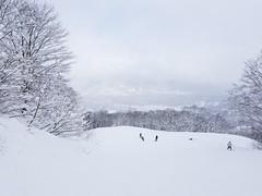Akakura onsen ski resort slopes