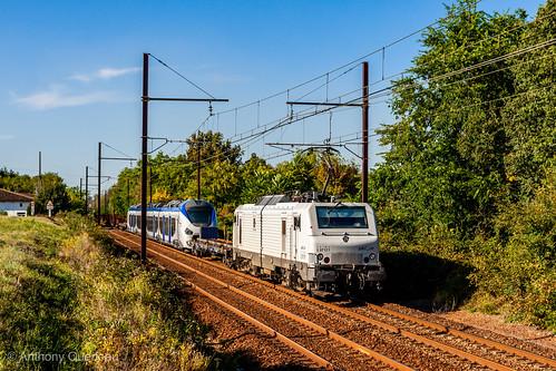 20 septembre 2014 BB 37511-B 83529 Train 806407 Nançois-Tronville -Toulouse-Raynal Cadaujac (33)