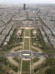 Vistas desde la Torre Eiffel de los Campos de Marte. París (Francia).
