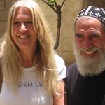 Vassula with Syrian Orthodox, Rev. Shemun Can in Jerusalem