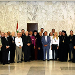 President of Lebanon, Emile Lahoud receives Vassula and TLIG Pilgrims in May 2005