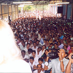 Vassula presenting at one of her more than 1500 meetings. This is one from India in 2004.