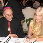 Vassula with Archbishop Elias Tobbi of the Syrian Catholic Church