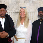 Vassula with Ethopian Orthodox Priests in Jerusalem