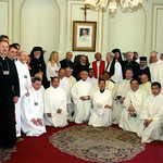 Cardinal Sfeir, at the Maronite Church in Lebanon, receives Vassula and various clergyman attending the True Life in God Ecumenical Pilgrimage in 2005