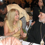 Vassula meets in Damascus with Bishop Isidore Battika of the Greek Melkite Church of Syria