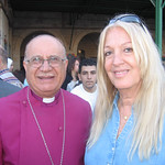 Vassula with The Rt. Rev. Bishop Riah Abu El-Assal, Anglican Bishop in Jerusalem and the Middle East