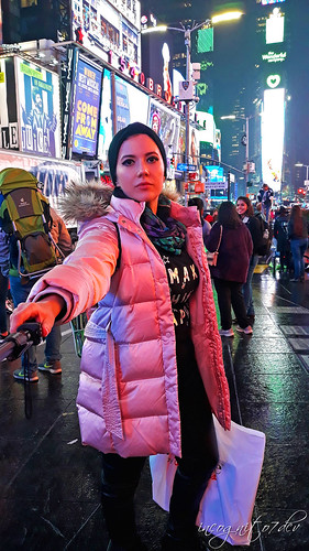In Times Square at Night Midtown Manhattan New York City NY P00509 20191003_192943