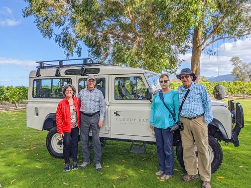 Patty, Gary, Lorrie & George @ Cloudy Bay Vineyards,  Blenheim Marlborough, NZ-