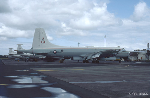 4-5 November 1978, Fincastle Trophy participants at Whenuapai, RAF Nimrod XV257 and XV260, RCAF Argus 10726. and RNZAF Orion NZ4202 in background
