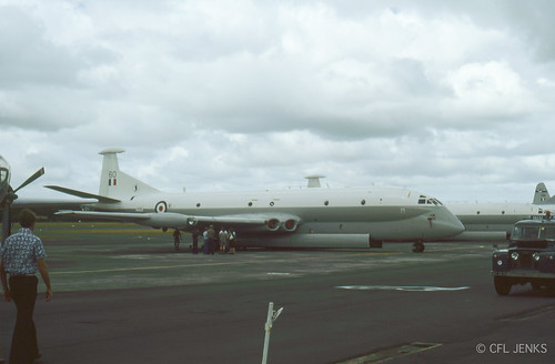 4-5 November 1978, Fincastle Trophy participants at Whenuapai, RAF Nimrods XV260 and XV257, RAAF Orion A9-295