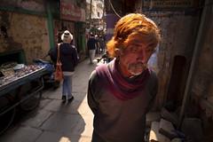 pensive man, Varanasi
