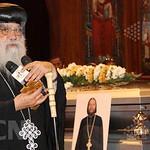 الأنبا باخوميوس في جنازة الراهب القمص حياة الأثيوبي المحرقي